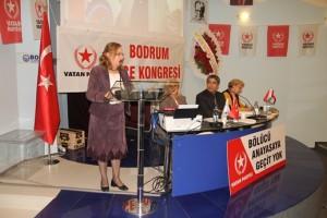 Bodrum-Vatan Partisi Genel Başkan Yardımcısı Şule Perinçek