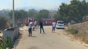 Bodrum-İslamhaneleri Mahallesi yangın