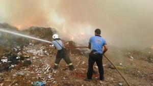 bodrum çöp yangınına anında müdahale (1)