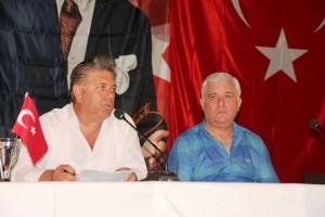 Bodrum Belediyesi başkan yardımcıları Taner Uslu ile İsmail Altındağ
