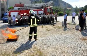 itfaiyeden jandarmaya yangın eğitimi (8)