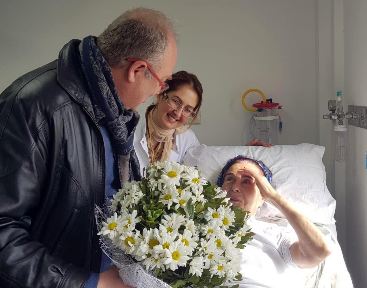 DR.TAHİR ATEŞ'TEN FATMA GİRİK'E ZİYARET