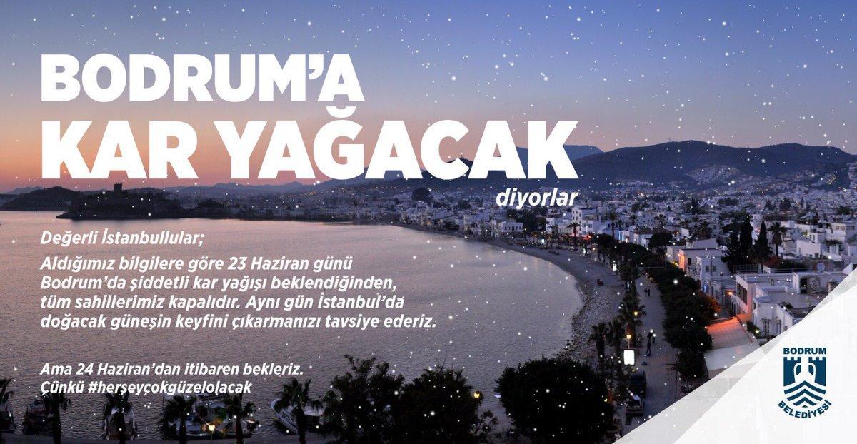 BODRUM'A KAR YAĞACAK, GELMEYİN!
