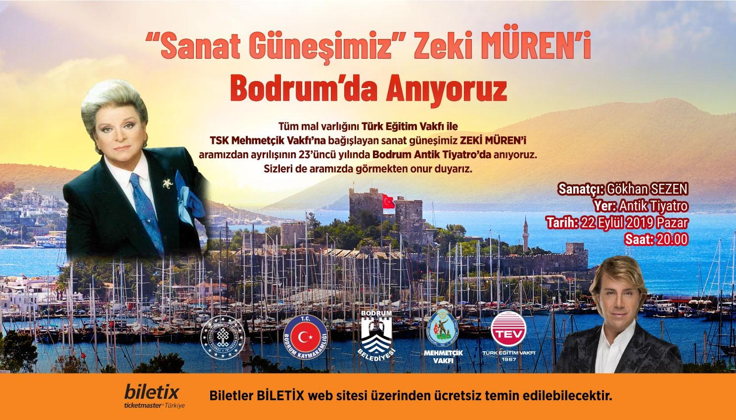 """""""SANAT GÜNEŞİ"""" ZEKİ MÜREN GİDELİ 23 YIL OLDU…"""