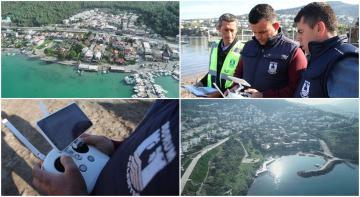 İMARA AYKIRILIKLARI DRONE İLE TESPİT EDİYORLAR