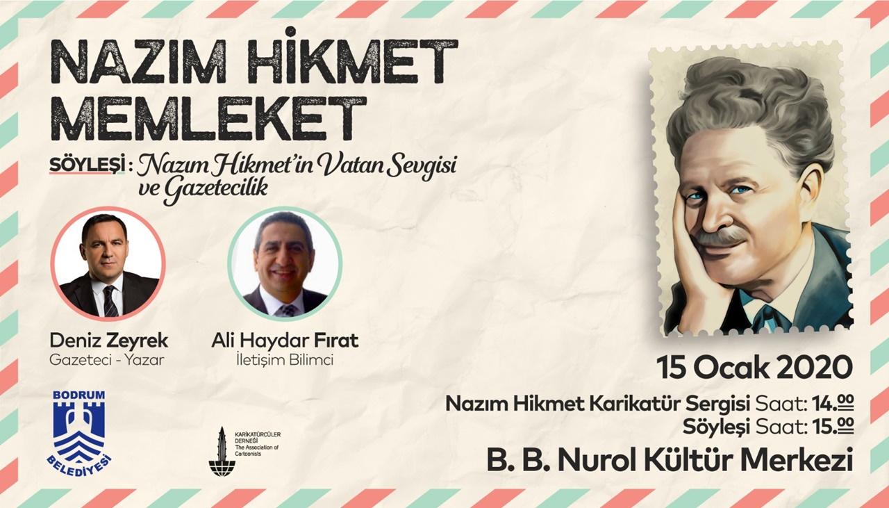 VATAN ŞAİRİ NAZIM HİKMET BODRUM'DA ANILIYOR