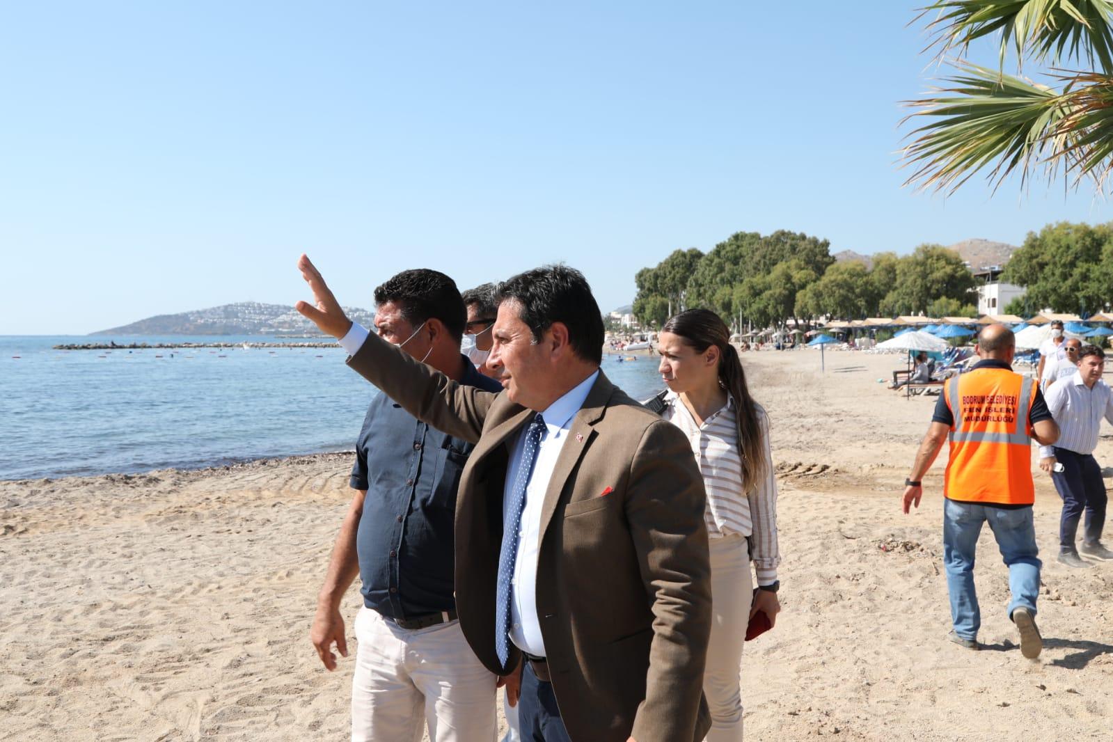 BAŞKAN ARAS TURGUTREİS'TE İNCELEMELERDE BULUNDU