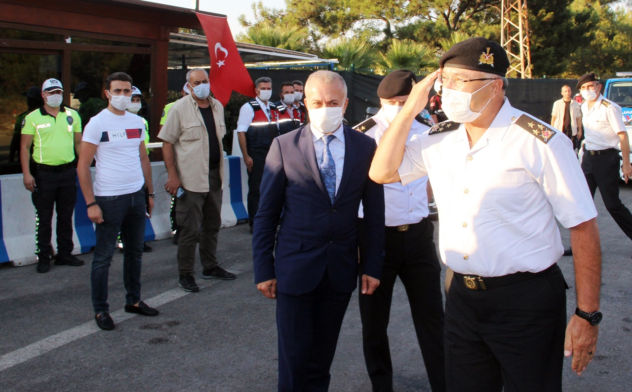 KORGENARAL ÇİTİL BODRUM'DA DENETİMLERE KATILDI