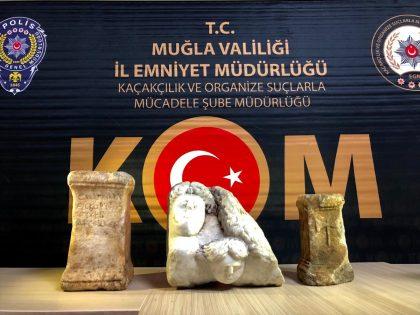 ROMA DÖNEMİNE AİT ESERLERLE YAKALANDI